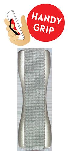 mobilezone handy grip silver